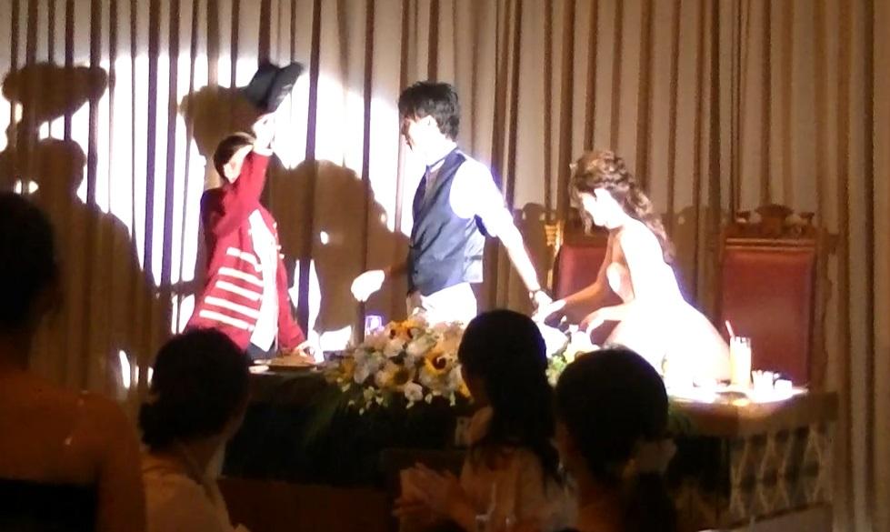 新郎の結婚式余興
